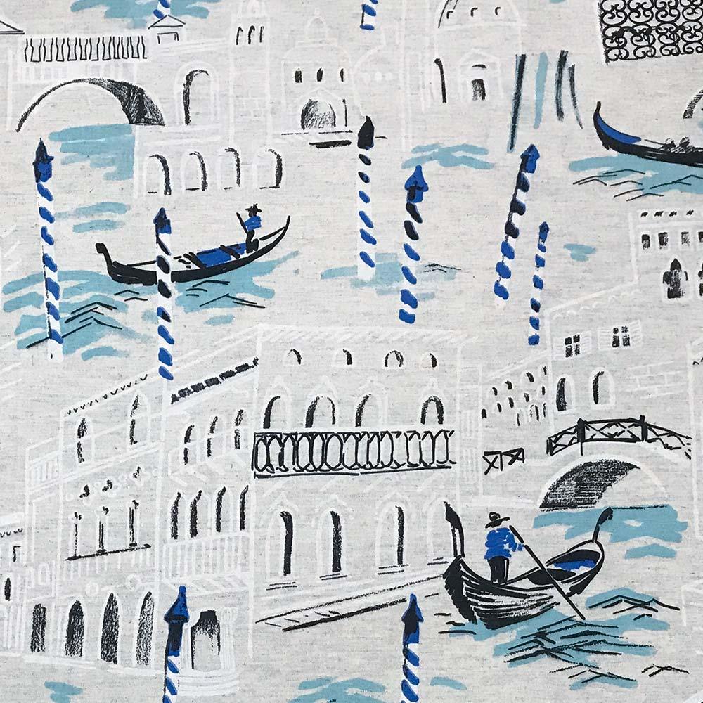 Tecido Decorativo Estampado Linho Veneza D21 03 Metros - D'Rossi
