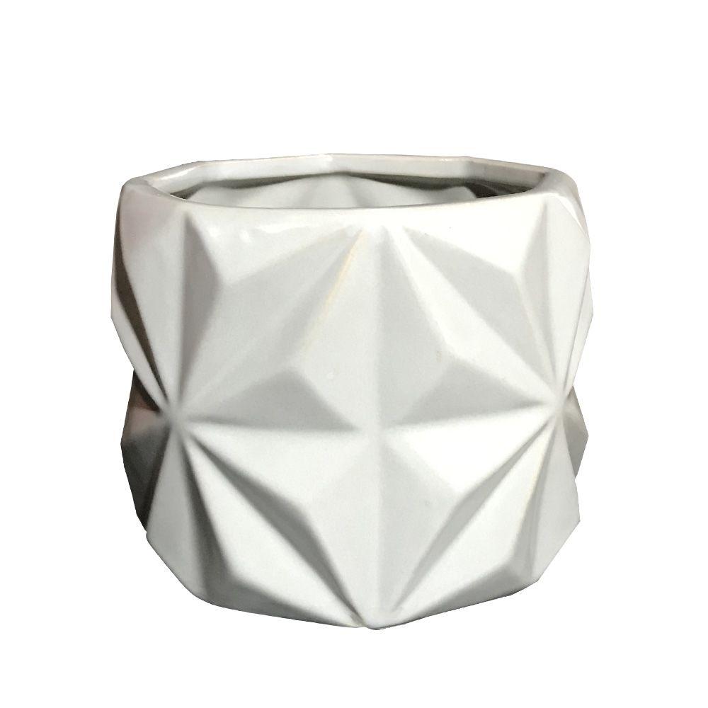 Vaso em Cerâmica Cinza 11cm - D'Rossi