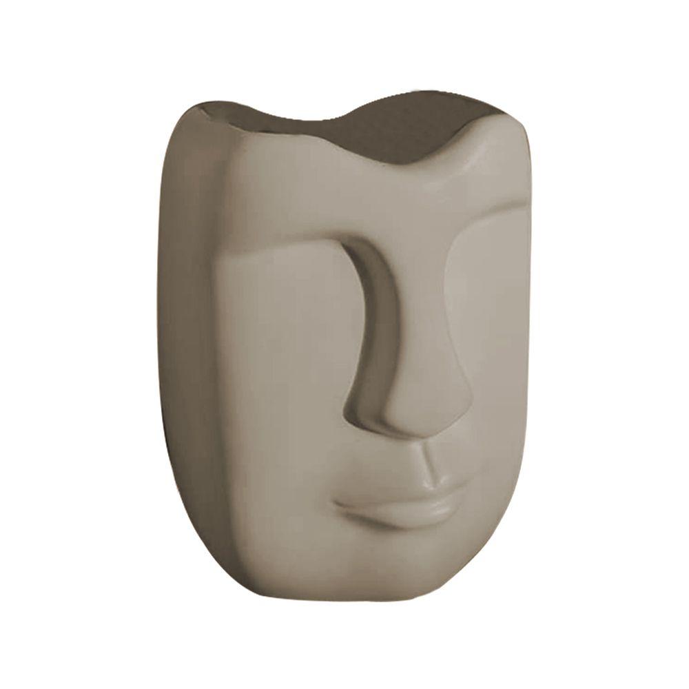 Vaso Decorativo Em Cerâmica Fendi Fosco 17 cm - D'Rossi