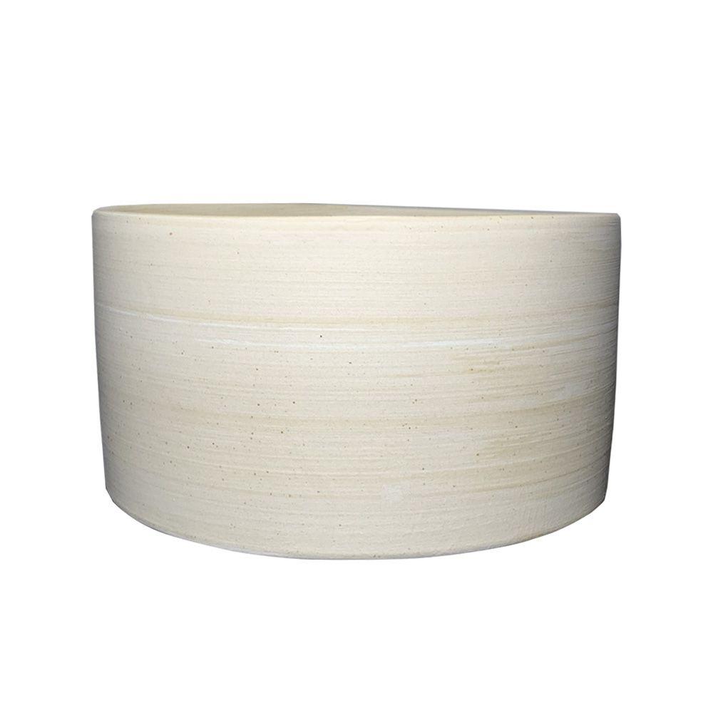 Vaso em Cerâmica Bege 9cm - D'Rossi