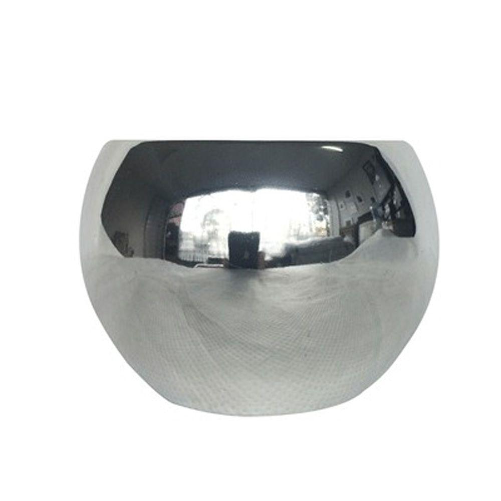 Vaso em Cerâmica Prata 6cm - D'Rossi