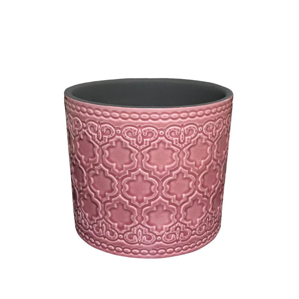 Vaso em Cerâmica Rosa Antigo 11cm - D'Rossi