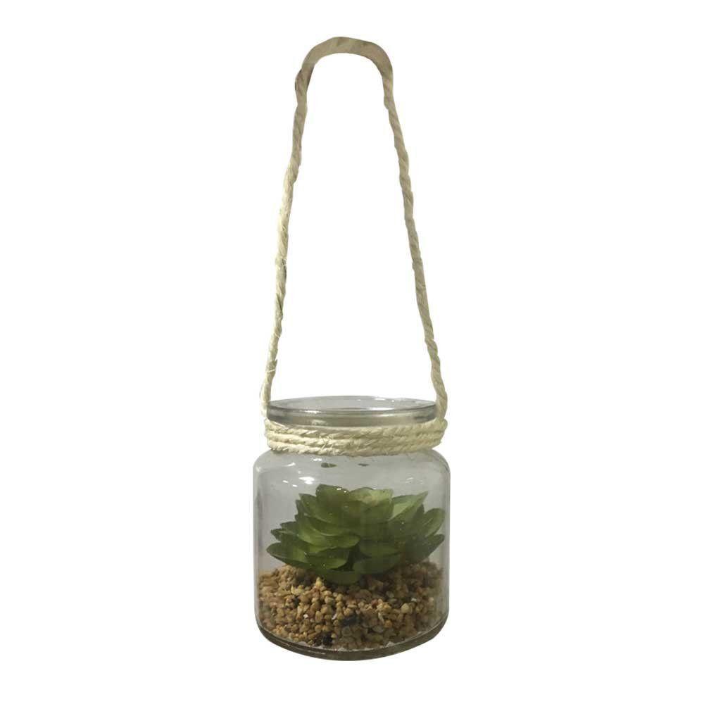 Vaso Suculenta de Pendurar com Vaso 11cm - D'Rossi