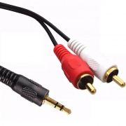 Cabo de Áudio P2 x RCA com 1,5 Metros