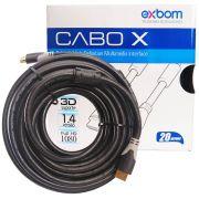 Cabo HDMI 1.4 20 Metros Blindado com Filtro (sem malha) Exbom CBX-H200SM