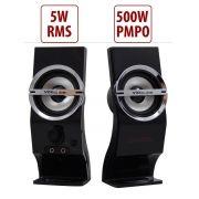 Caixa de Som 2.0 5 Watts Rms para PC Knup KP-7024