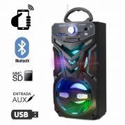 Caixa de Som Bluetooth 12 Watts Rms Exbom CS-M432BT c/ Visor SD/USB/FM