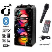 Caixa de Som Bluetooth 12 Watts Rms Infokit VC-M711QBT c/ Visor SD/USB/FM e Microfone