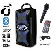 Caixa de Som Bluetooth 12 Watts Rms Infokit VC-M884QBT c/ Visor SD/USB/FM e Microfone