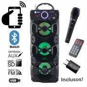 Caixa de Som Bluetooth 18 Watts Rms Infokit VC-M912BT c/ VISOR SD/USB/FM e Microfone