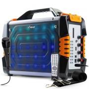 Caixa de Som Bluetooth Portátil LED 100 Watts RMS com Microfone Xtrad XDG-24