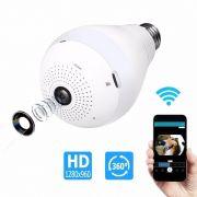 Câmera IP Wi-fi Panorâmica 360 Graus Lâmpada Led Inova CAM-8003