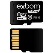 Cartão de Memória 32GB MicroSD Classe 10 Exbom STGD-TF32G