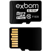 Cartão de Memória 64Gb MicroSD Classe 10 Exbom STGD-TF64G