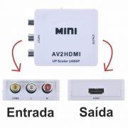 Conversor Áudio e Vídeo Rca para Hdmi AV2HDMI