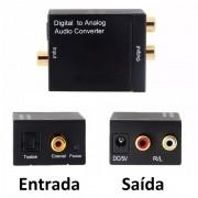 Conversor de Áudio Digital Óptico e Coaxial para Analógico Rca Xtrad XT-5528