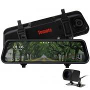 Espelho Retrovisor com Tela Monitor e Câmera de Ré HD e Frontal Full HD Tomate MTM-343