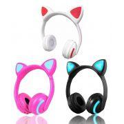 Headphone Bluetooth Orelhas de Gato com Led Exbom HF-C240BT