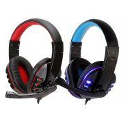 Headset Gamer com Microfone Cabo P3 e LEDs Exbom HF-G310P4