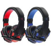 Headset Gamer com Microfone Cabo P3 e LEDs Exbom HF-G390P4