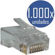 KIT 1000x Conectores RJ45 CAT5e Macho para Cabo de Rede