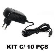 KIT 10 Fontes Chaveada 12v 3a Plug P4 5,5x2,5mm Bivolt Xtrad XT-6012