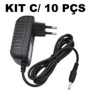 Kit 10 Fontes Chaveada 5v 3a Plug 3.5mm Bivolt Lelong LE-0176