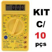 KIT 10x Multímetros Digital com Aviso Sonoro XT-573