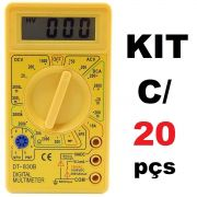 KIT 20x Multímetros Digital com Aviso Sonoro XT-573