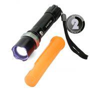 KIT 2x Lanterna Tática Led Cree com Sinalizador, Foco Ajustável e Bateria Recarregável B-Max BM8466