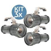 KIT 3x Lanterna Led Recarregável de 1200 Lumens B-Max BM-8806