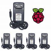 KIT 5 Fontes Chaveada 5v 3a Micro USB Bivolt Lelong LE-0184