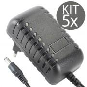 KIT 5x Fonte Chaveada 12v 3a Plug P4 5,5x2,5mm Bivolt LE-0174