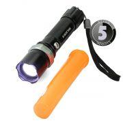 KIT 5x Lanterna Tática Led Cree com Sinalizador, Foco Ajustável e Bateria Recarregável B-Max BM8466