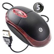 KIT 5x Mouse Óptico USB Exbom MS-9 com Led