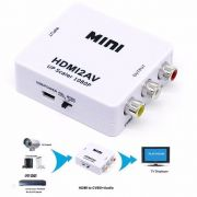 KIT Conversor Hdmi para AV Rca HDMI2AV + Cabo HDMI