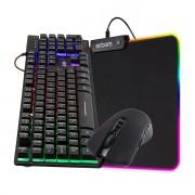 KIT Gamer Teclado + Mouse + Mouse Pad com LED Gamer BM-T06 + GM-V550 + MP-LED2535
