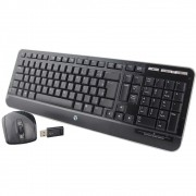 Kit Teclado e Mouse Sem Fio HP Atlas RF 2.4 Jack Black Blue
