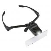 Lupa de Cabeça Óculos com 5 Lentes de Aumento e Luz de Led 9892B