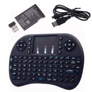 Mini Teclado Sem Fio Wireless I8 com Touchpad e Bateria Recarregável