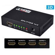 Splitter HDMI 1x4 Divisor 1 Entrada para 4 Saídas v1.4 3D Xtrad XT-2047