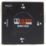 Switch HDMI com 3 Entradas e 1 Saída + 1 Cabo hdmi de 1 Metro CBX-H10SM