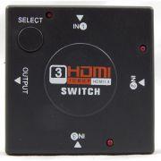 Switch HDMI com 3 Entradas e 1 Saída + 4 Cabos hdmi de 1 Metro CBX-H10SM