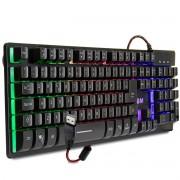 Teclado Gamer Semi Mecânico USB com LED ABNT2 B-Max BM-T06