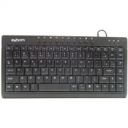Teclado Mini Multimidia USB Exbom BK-M57