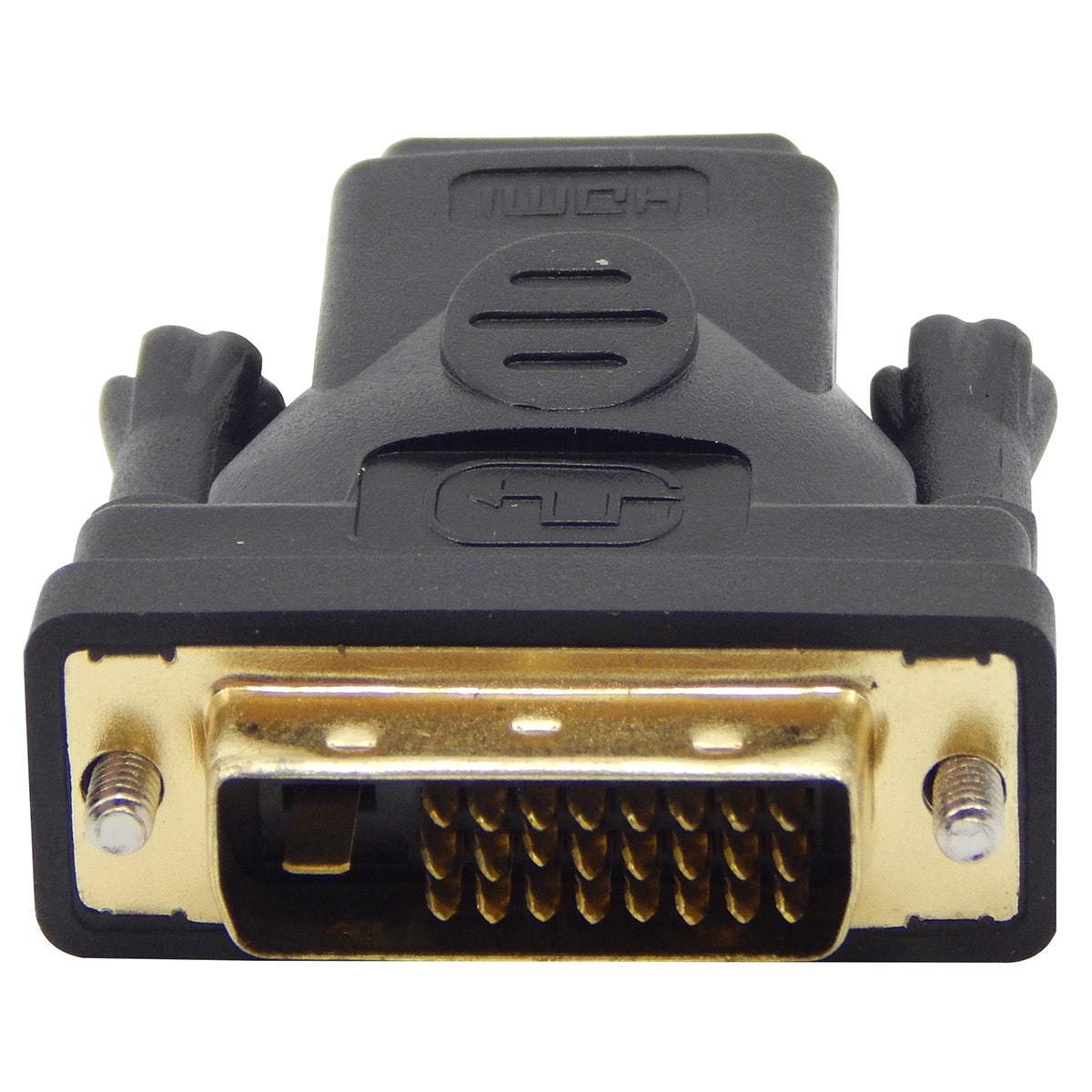 Adaptador DVI-D 24+1 Macho x HDMI Femea
