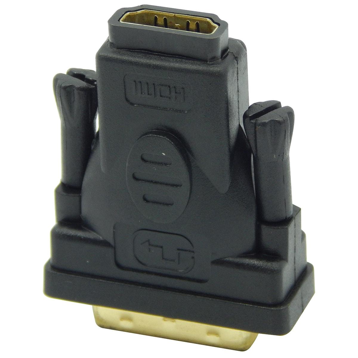 Adaptador DVI-D 24+1 Macho x HDMI Femea Xtrad XT568