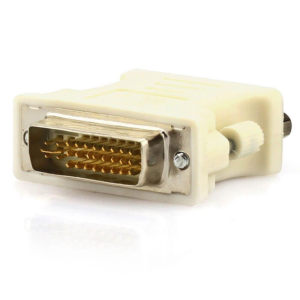 Adaptador DVI-I (Dual Link) 24+5 Macho para VGA Fêmea