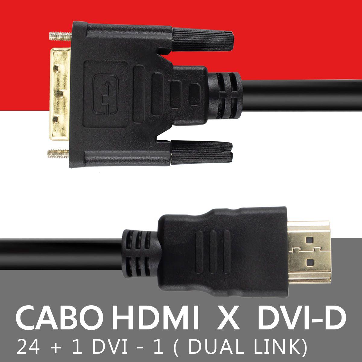 Cabo Dvi x Dvi Dual Link 24+1 de 1,8 metros com Filtro Xtrad XT-2114