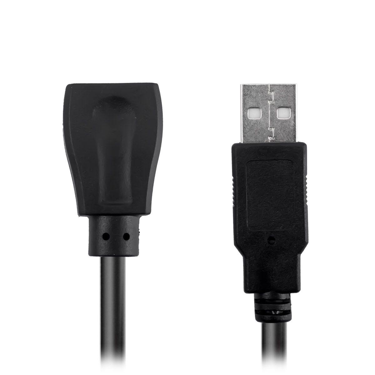 Cabo Extensor USB 2.0 de 5 Metros Exbom CBX-U2AMAF50
